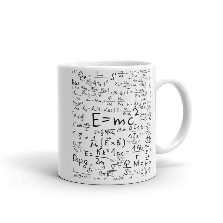 Excited to share the latest addition to my #etsy shop: Coffee & Tea Math Mug Gift for Physic Teacher or Students   E=MC2 Energy Mass Einstein's Theory of Relativity   Calculus, Physics, Algebra http://etsy.me/2AmtUc3 #housewares #white #black #no #ceramic #einsteinmug #teachermug