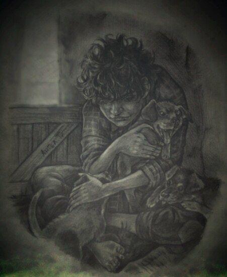 """""""Он родился шестипалым и горбатым, уродливым, как обезьяний детеныш. В десять лет он был угрюмым и большеротым, с вечно расквашенными губами, с огромными лапами, которые рушили все вокруг. В семнадцать стал тоньше, тише и спокойнее. Лицо его было лицом взрослого, брови срастались над переносицей, густая грива цвета вороньих перьев росла вширь, как колючий куст."""" by Ангел Ти"""