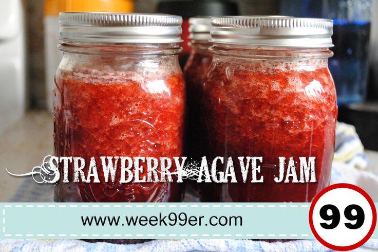 Strawberry Agave Jam - Low GI Recipe! Gluten Free - Sugar Free! www.week99er.com