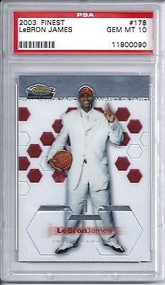 cool 2002 Finest Lebron James Rookie Card PSA 10 GEM MINT Basketball 02 - For Sale View more at http://shipperscentral.com/wp/product/2002-finest-lebron-james-rookie-card-psa-10-gem-mint-basketball-02-for-sale/