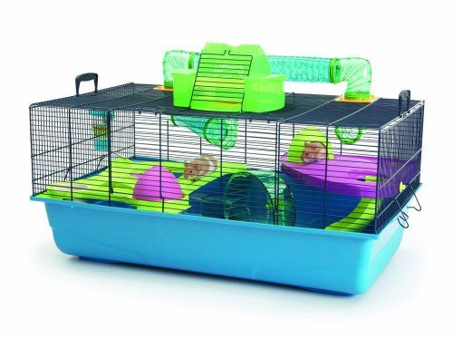 Extra large hamster cage with lots of accessories included Easy to assemble Quality plastic