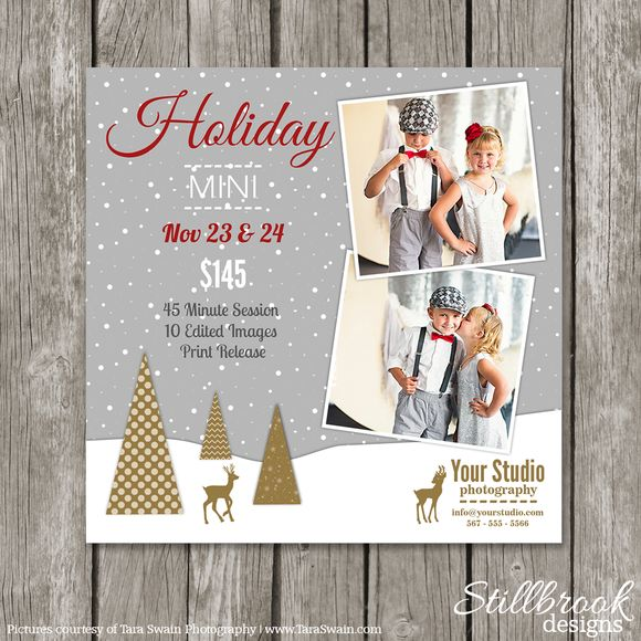 Christmas Mini Session Template by Stillbrook Designs on Creative Market