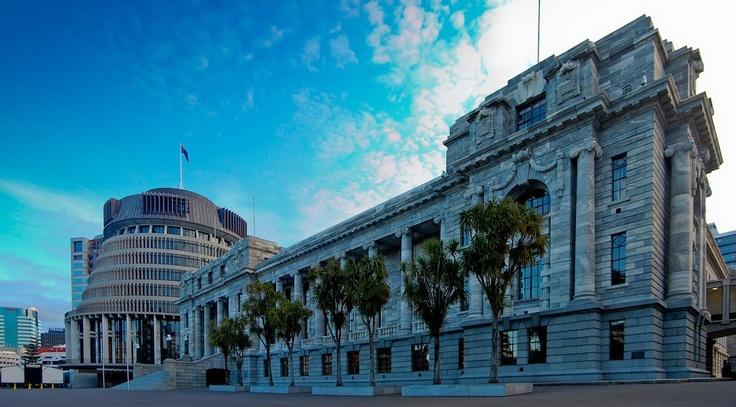Government Buildings & Beehive Wellington