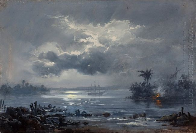 A passagem de Humaitá - Seascape Paintings