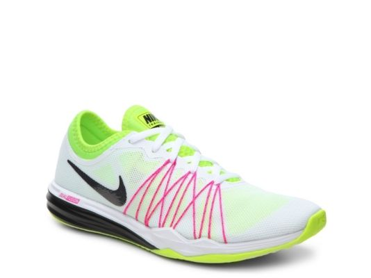 Women's Nike Dual Fusion TR Hit OC Training Shoe -  - White/Green/Pink