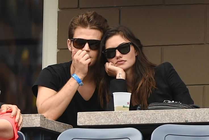 Paul Wesley and Phoebe Tonkin at the US Open 2014