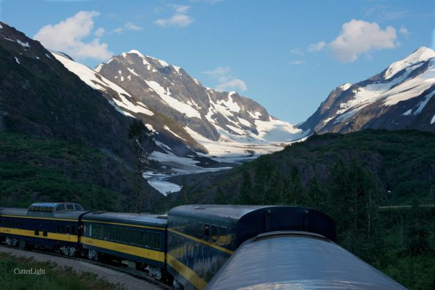 Alaska train Anchorage to Seward.