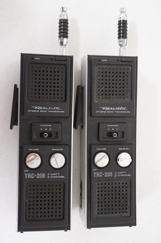 Set of 2 Realistic Citizens Band Transceiver TRC-206 Radio movie prop/theater #Realis
