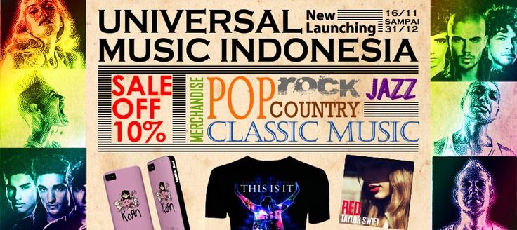 OMG!! Yes24 Indonesia - Universal Music Indonesia New Launching SALE OFF 10% Mauuuuuuuuu