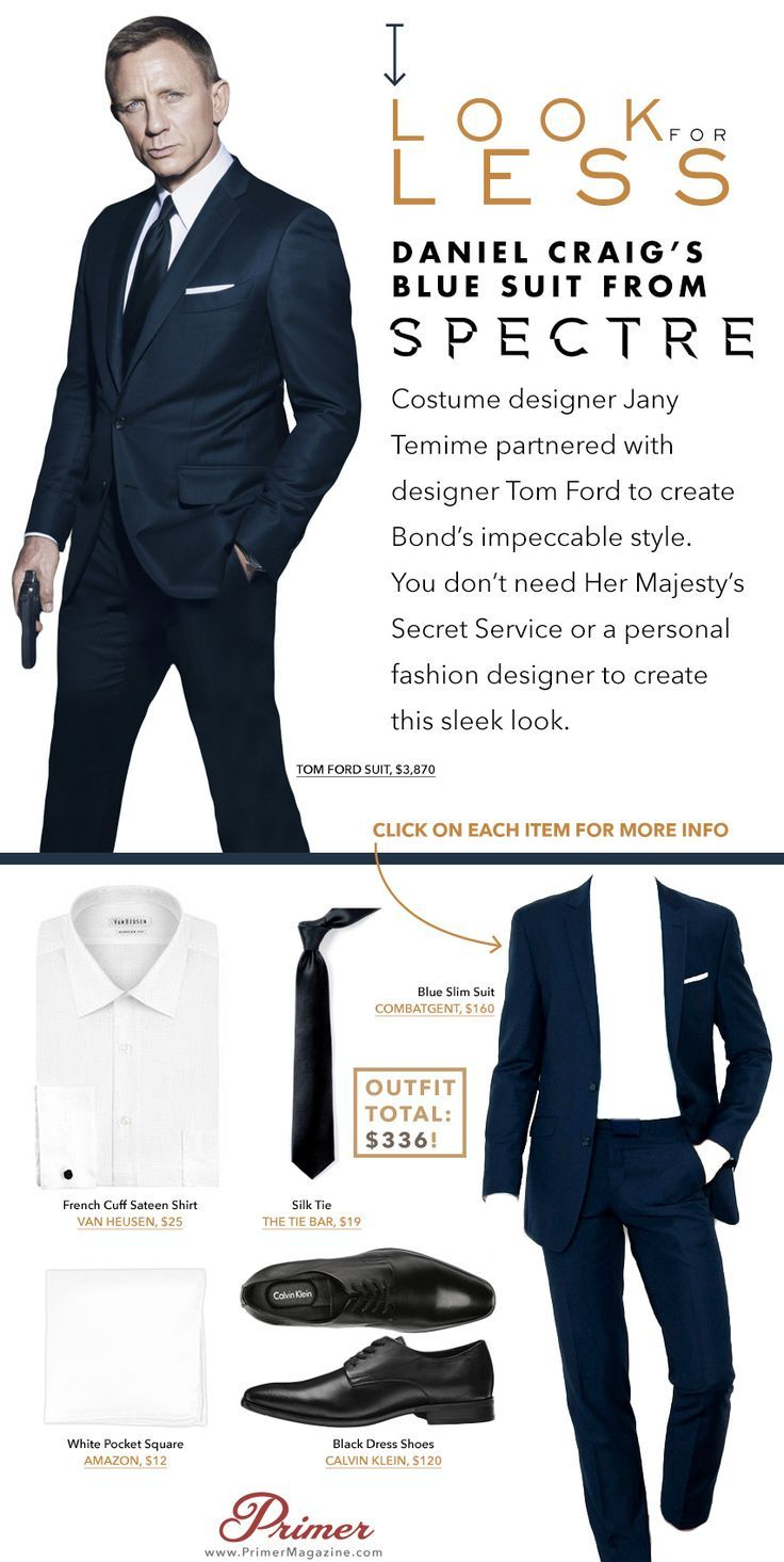 Daniel Craig S Blue Suit From Spectre Look For Less