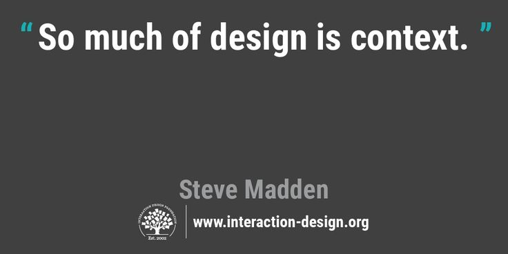 The Daily Design Quote Interaction Design Foundation Design - software quote