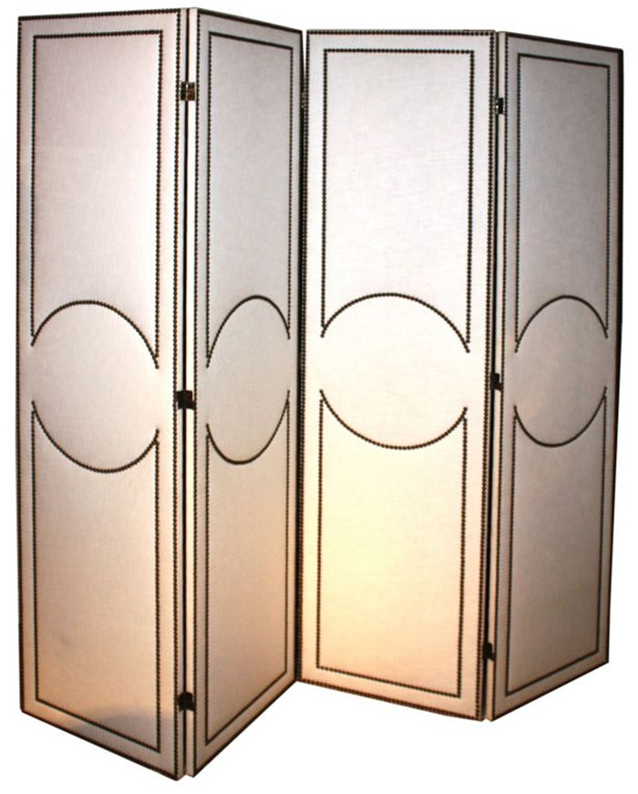 Fab five folding screens cloth kind the furniture for Cloth privacy screen