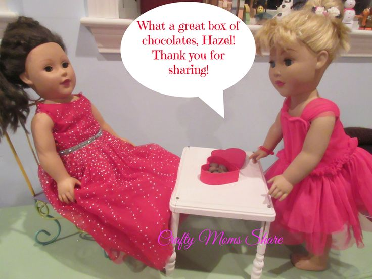 Crafty Moms Share: DIY A Doll's Valentine's Day Box of Chocolates