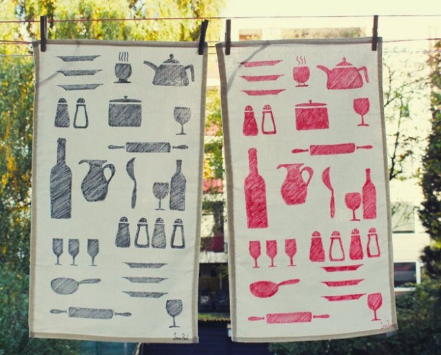 DIY tea towel @Katie Carbajal  let's make these at your Pinterest party. ;)