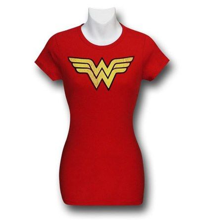 Wonder Woman Women's Distressed Symbol T-Shirt