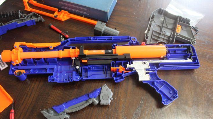 Orange Mod Works Nerf Elite Longshot internals