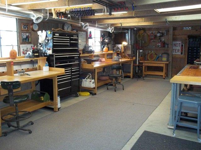 workshop Workshop How to transform a Garage into nice working - home workshop ideas