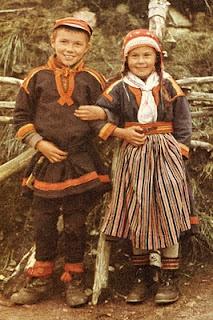 Nomad children from Gällivare in Sweden. Samiske barn fra Gällivare i Sverige.