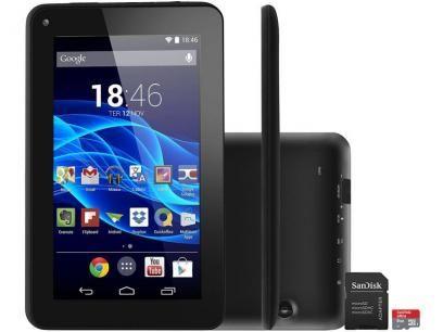 """Tablet Multilaser Supra 8GB Tela 7"""" Wi-Fi - Android 4.4 Proc. Quad Core + Cartão 8GB com as melhores condições você encontra no Magazine Ciabella. Confira!"""