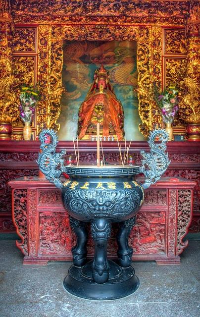 Chinese Folk Religion - Xinpu Temple Mazu Altar, Sinwu by jfahler, via Flickr