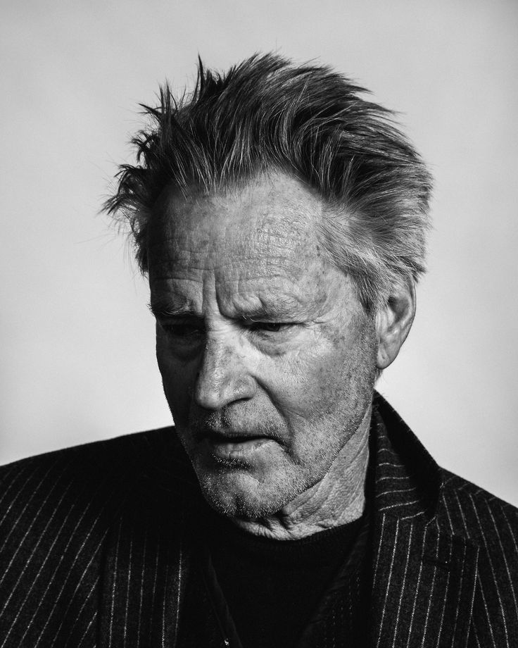 Sam Shepard (1943) - American playwright, actor, television and film director. Photo by Michael Friberg