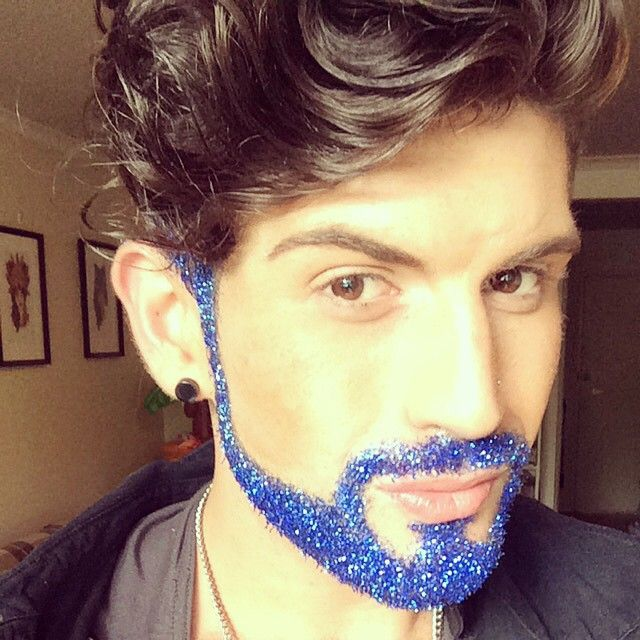 Glitter beards for the holidays - how can I make this happen?