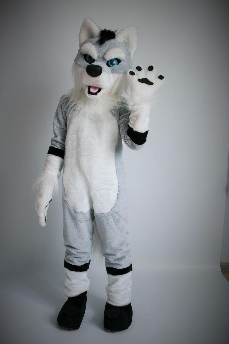 fursuit wolf costumes grey furry fursuits anthro