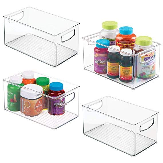 24 4 10 X 6 X 5 High Bathroom Storage Organization Bathroom Storage Organizing Bins