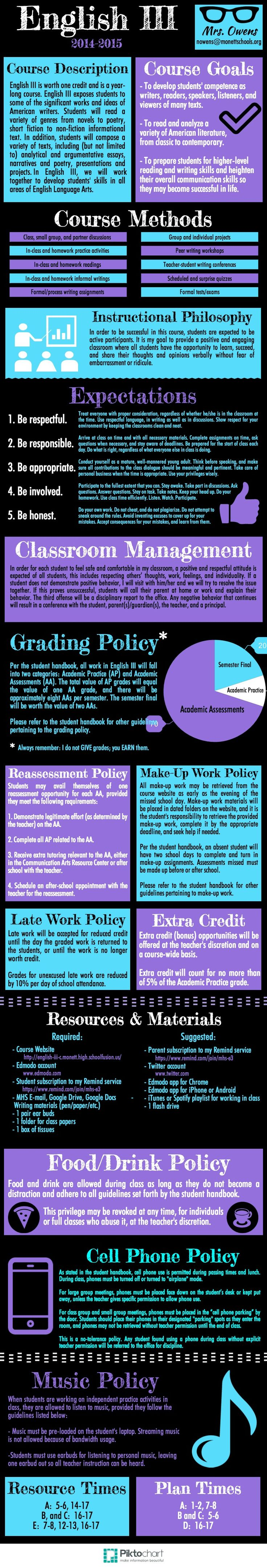 Piktochart Infographic Editor - A nice way to make info graphics, maybe an idea for syllabi?