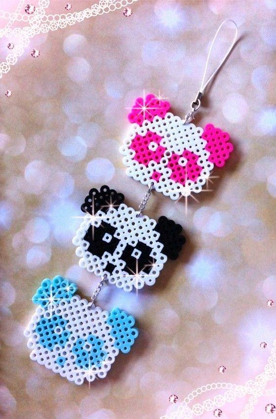 Panda Pixel Perler Bead by *BlackOutDoll on deviantART