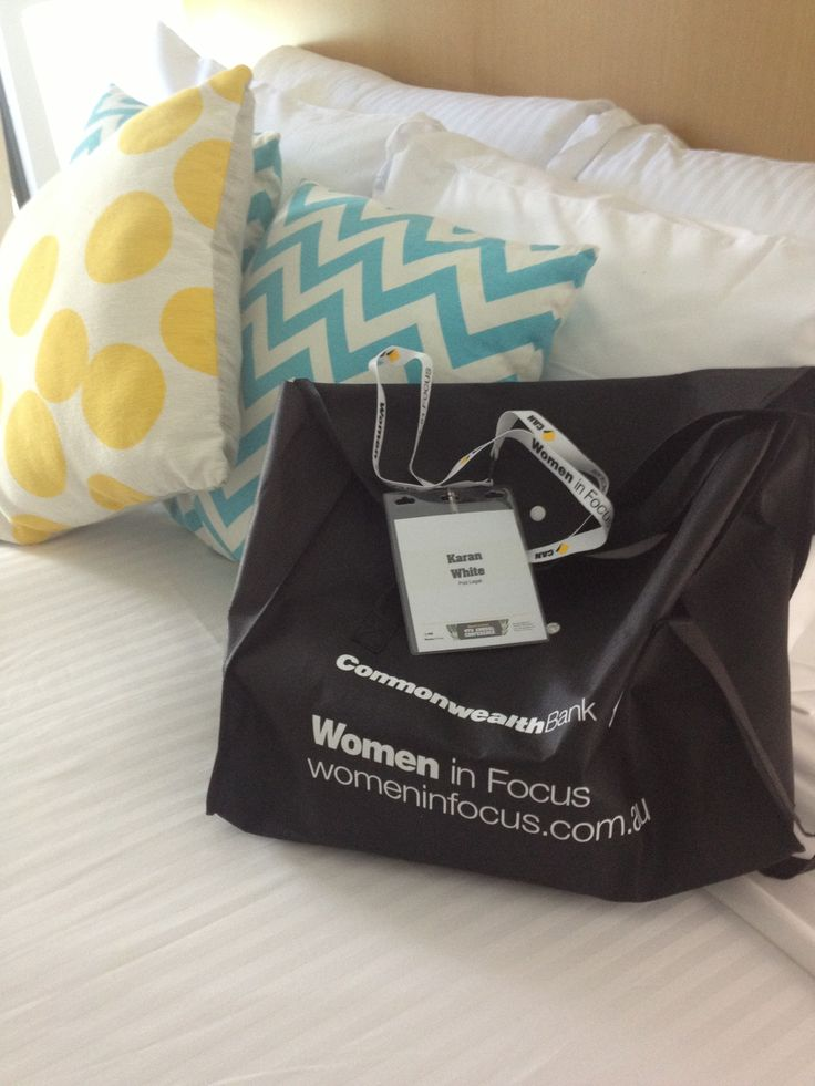 That moment when you know you have arrived - your delegate welcome bag & lanyard is finally in your hands! #womenCAN https://www.womeninfocus.com.au/welcome