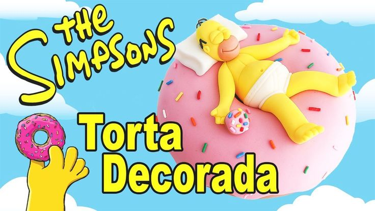 Los Simpsons 🍩 Torta / Pastel de Dona Gigante y Homero Simpson || Tan Dulce
