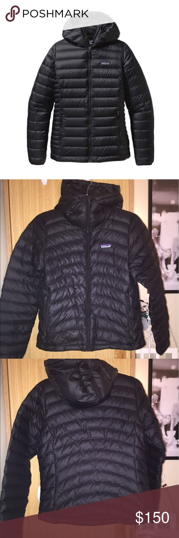 Women's Patagonia Down Sweater Jacket Black down Patagonia jacket, small size, good condition, a couple small stains on the front (pictured) Patagonia Jackets & Coats Puffers