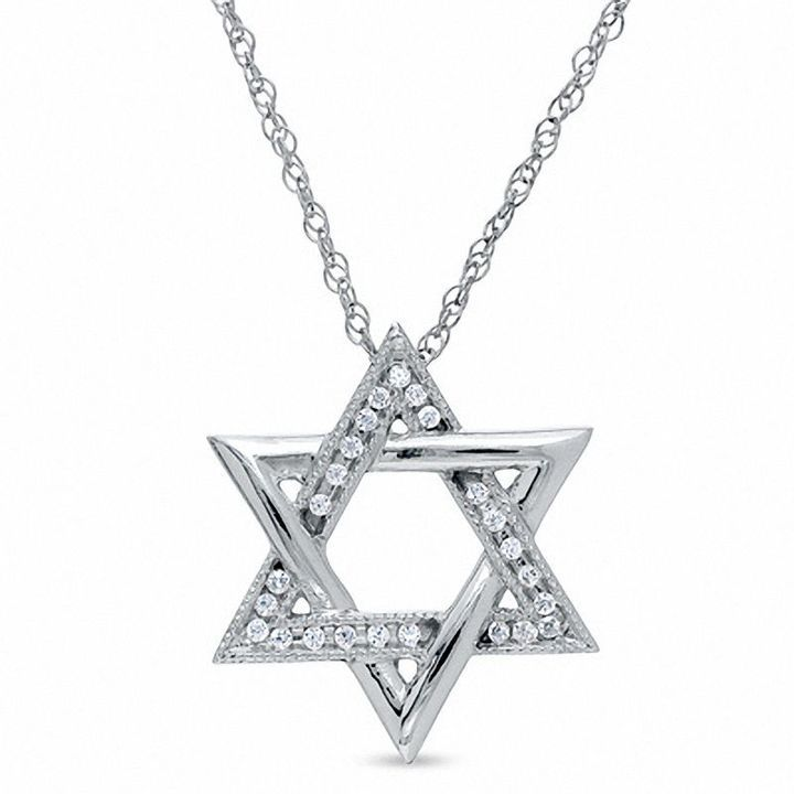 Best 25 star of david pendant ideas on pinterest jewish jewelry diamond accent star of david pendant in sterling silver aloadofball Choice Image