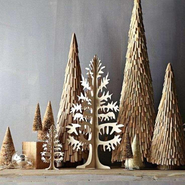 Addobbi di Natale - Alberi di cartone