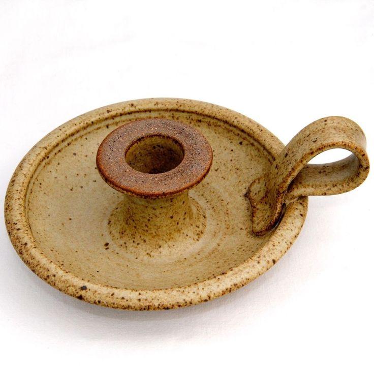 Stoneware Chamberstick David Mildenhall English Studio Pottery 14cm Diam.