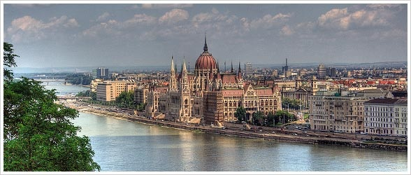 The Hungarian Parliament building is just a stone's throw from the the boat as you drift by on the Danube. (Don't actually try throwing any stones though!)