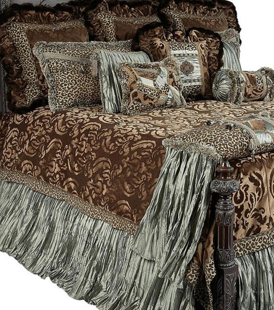 Beautiful Luxury High End Bedding and Accent Pillows by Reilly-Chance Collection: ARISTOCAT
