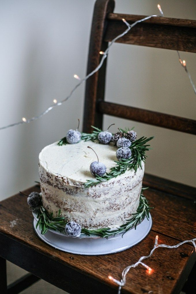 Chrismas Orange & Almond Spice Cake with Brown Butter Frosting I Daisy and the Fox