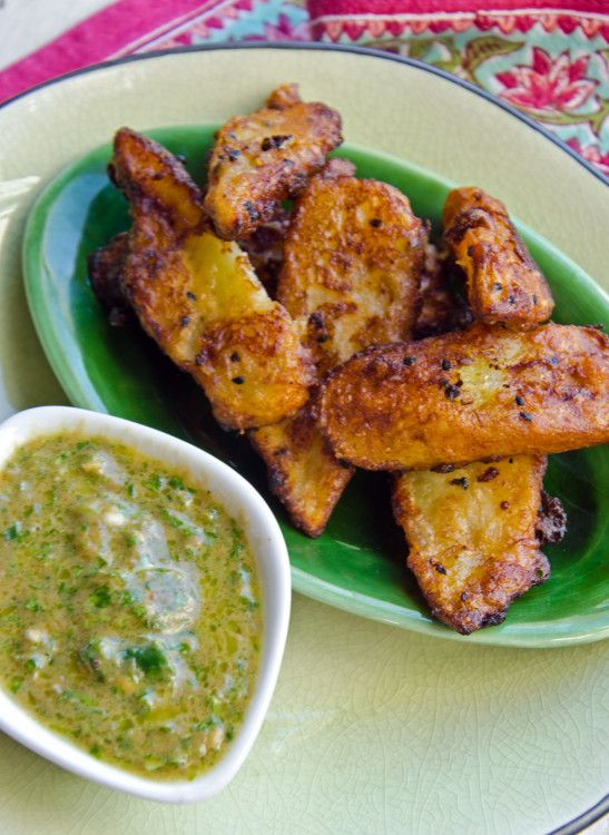 Deep-Fried Green Bananas with Green Chilli & Tamarind Dipping Sauce   Food and the Fabulous