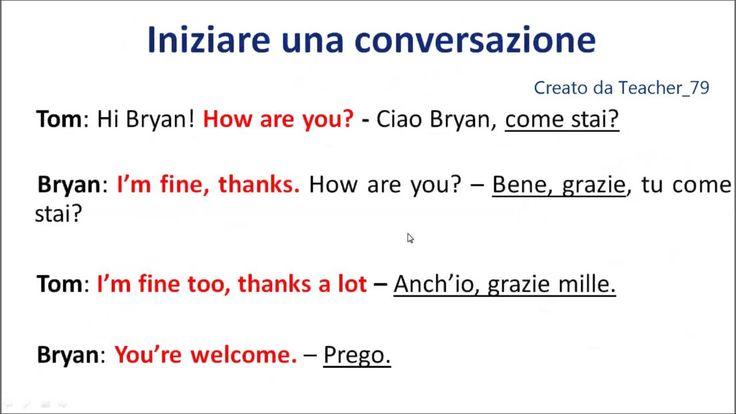 inglese base - iniziare una conversazione