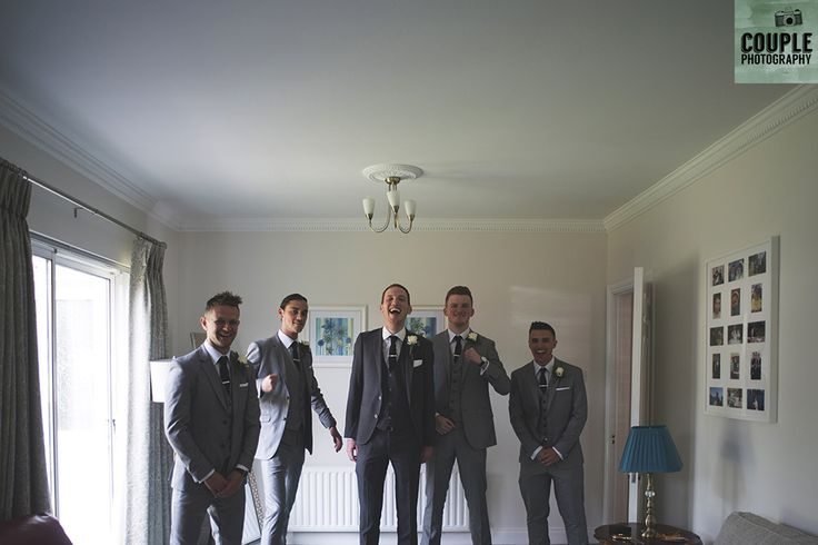 The boys get the suits on, ready to party. Real Wedding by Couple Photography