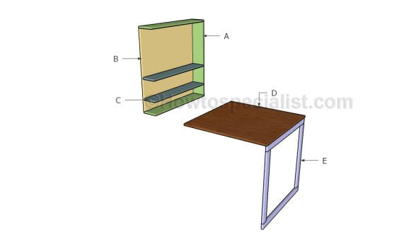 Building a drop down desk