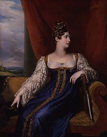 1st Wife Of Leopold I (Leopold Georg Christian Friedrich) (1790-1865) King of the Belgians. Princess Charlotte of Wales (Charlotte Augusta) (1796–1817), only child of George Prince of Wales (later King George IV) (George Augustus Frederick) (1762-1830) & Caroline Amelia Elizabeth of Brunswick (1761-1821), By George Dawe in 1817, the year she died. Her death left no heir to the British Throne & her father's brother William became King. She died at birth, with the baby, of thier 1st child (a…