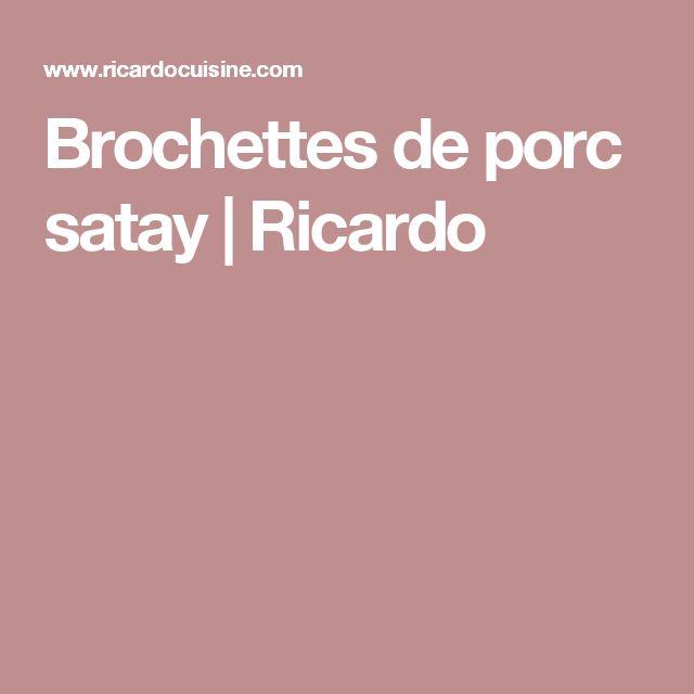 Brochettes de porc satay | Ricardo
