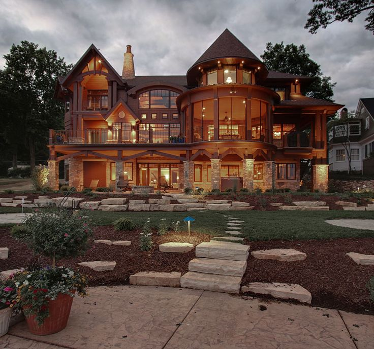 Amazing home!! I just love all the windows...better to take in all the water and/or mountain views!