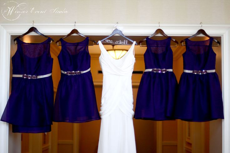 Why not get a dress shot of the wedding gown AND the bridesmaid dresses?