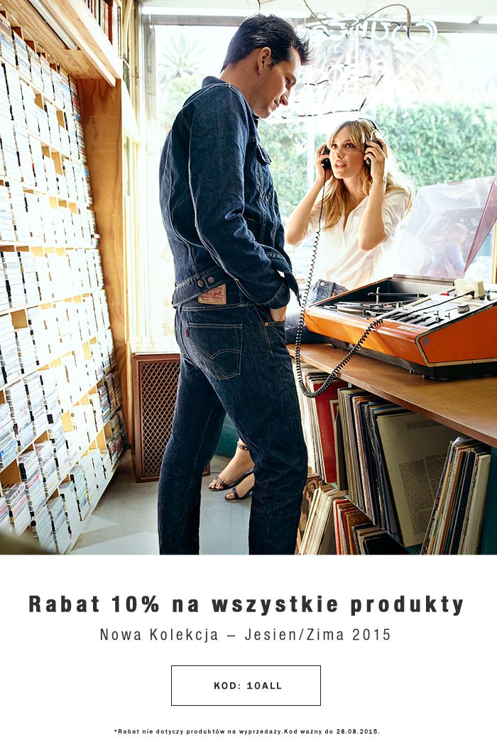 Rabat 10% na wszystkie produkty Nowa kolekcja - Jesień/Zima 2015 Kod: 10ALL Rabat nie dotyczy produktów na wyprzedaży Kod wazny do 28.08.2015 www.brand.pl