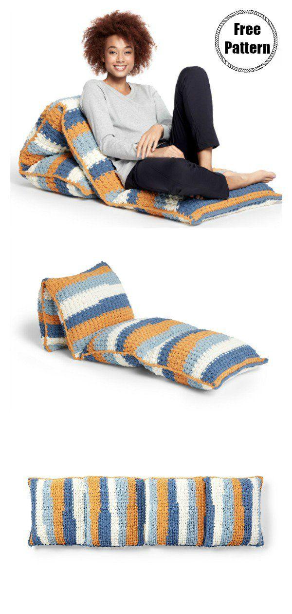 Fun Floor Pillow Free Crochet Pattern