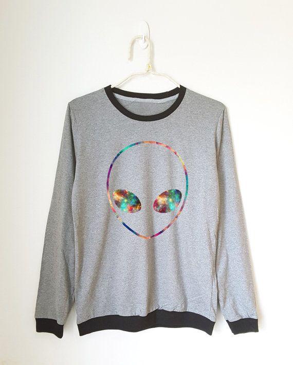 Funny Galaxy Alien shirt funny shirt hipster tee shirt by MoodCatz
